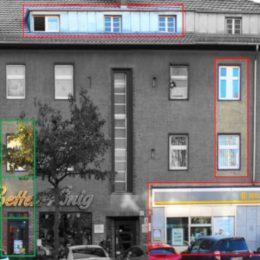 LKichtkonzept Berlin-Lichtenrade, Ladenfront, Änderungen markiert