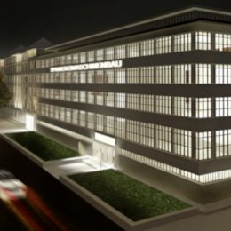 Spinnereimaschinenbau Chemnitz Lichtkonzept, Beleuchtung Gebäudekonzept by Ruairí O'Brien