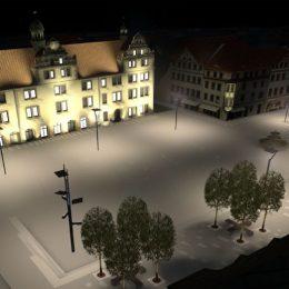 Beleuchtungskonzept für den historischen Marktplatz in Torgau.