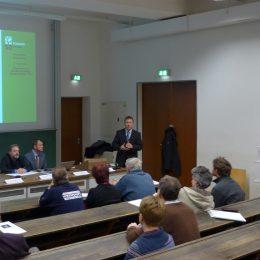Eine Präsentation während der Phase Null mit Ruairí O'Brien