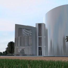 Europäisches Zentrum für Bildung und Kultur von außen am Tag, großes Gebäude