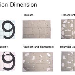 Variationen von Dimensionen für Tafeln des Revolutionsweges in Dresden.