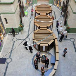 Skulptur zur 89-Ausstellung von Architekt Ruairí O'Brien aus der Vogelperspektive.
