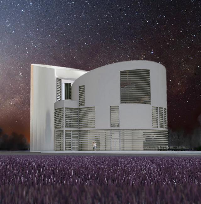 Europäisches Zentrum für Bildung und Kultur Konzept bei Nacht