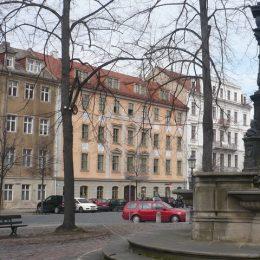 Literaturcafé in Dresden von außen, Gebäudeansicht
