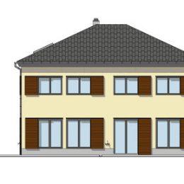 Haus Reick mit gelber Außenwand, Farbkonzept