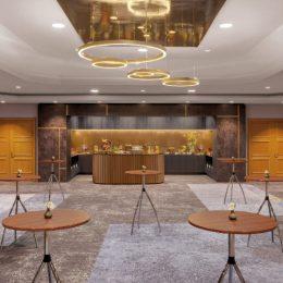Lichtplanung Bankettbereich Hotel Westin Bellevue Dresden Empfangsbereich