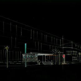 Außenorientierungssystem für das Krankenhaus St. Joseph-Stift in schwarz