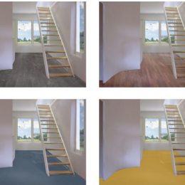 4 Varianten der Farbgestaltung für den Eingangsbereich des Haus Bramsch