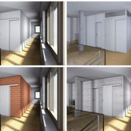 4 Varianten der Flurgestaltung für Haus Bramsch