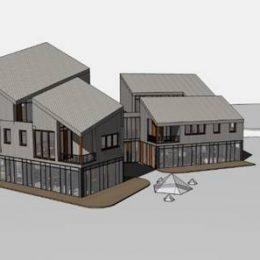 Modell vom Mehrgenerationenhaus Pillnitz