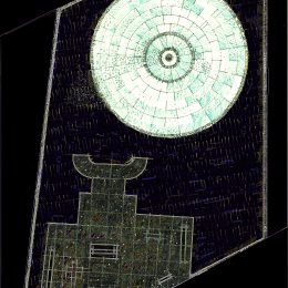 """Lageplan des Gedenkortes """"Euthanasie"""" in Berlin mit Tränenpool und einem Gebäude in der Tiergartenstraße."""