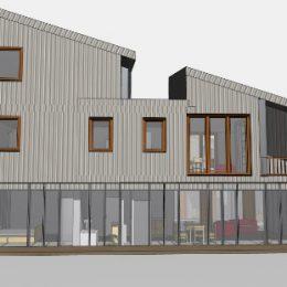 Modell vom Mehrgenerationenhaus Pillnitz von der Seite