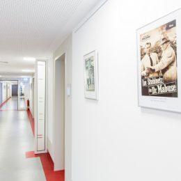 Innenaufnahme einer Krankenstation im Universitätsklinikum Dresden für RUAIRÍ O'BRIEN. ARCHITEKTUR. LICHT. RAUMKUNST.