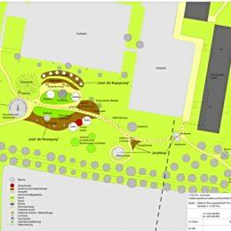 Pirna Sonnenstein, Ansicht Gelände Karte