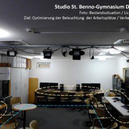 Bestandssituation und Lichtanalyse des Computerraums des St. Benno Gymnasiums Dresden