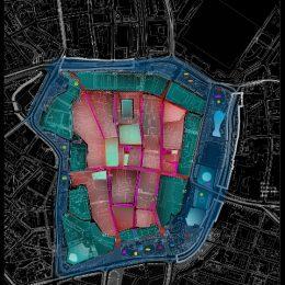 Stadtplan Leizig als Grundlage für ein Winterlichttkonzept