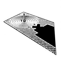 """Wettbewerbsbeitrag für die Gestaltung des Gedenk- und Informationsorten """"Euthanasie"""" in Berlin von Ruairí O'Brien. Ideenskizze des Tränenpools."""
