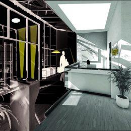 Geplanter Innenbereich des Zentrums für innovative Technologien