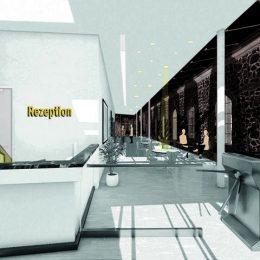 Geplanter Rezeptionsbereich für das Zentrum für innovative Technologien