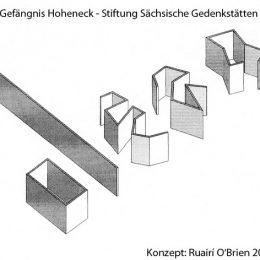 Konzept für Wandformen für das Gefängnis Hoheneck von Ruairí O'Brien.