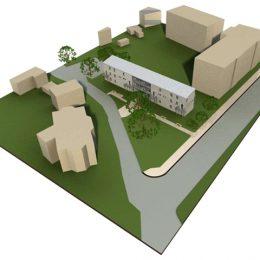 Modell für ein Areal eines Asylbewerberwohnheimes