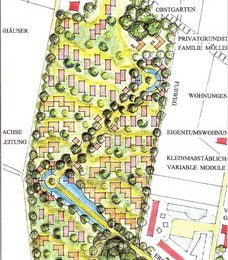Entwurf für eine Ferien- und Wohnsielung im Ostseebad Kühlungsborn von Ruairí O'Brien