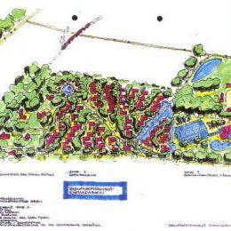 Vorentwurf für eine Siedlung mit Sport- und Freizeitzentrum im Ostseebad Kühlborn von Ruairí O'Brien