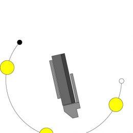 Skizze, die einen Sonnenaufgang zeigt, als Teil der Lichtplanungsstudie für das Haus Evolucio