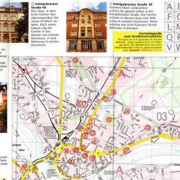 Straßenkarte für das micromuseum City Walk in Dresden mitWegpunkten