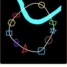 Skizze der Lichtkette für den 26er Ring in Dresden, Lichtkonzept by Ruairí O'Brien