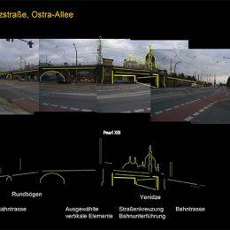 Lichtkonzept für den 26er Ring in Dresden, Analyse für mögliche Beleuchtung an der Könneritzstraße und Ostra-Allee
