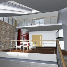 Innenansicht und Gestaltung eines Wohnhauses in Freiberg