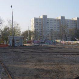 Brachland der ehemaligen Betonfabrik in Dresden Johannstadt.