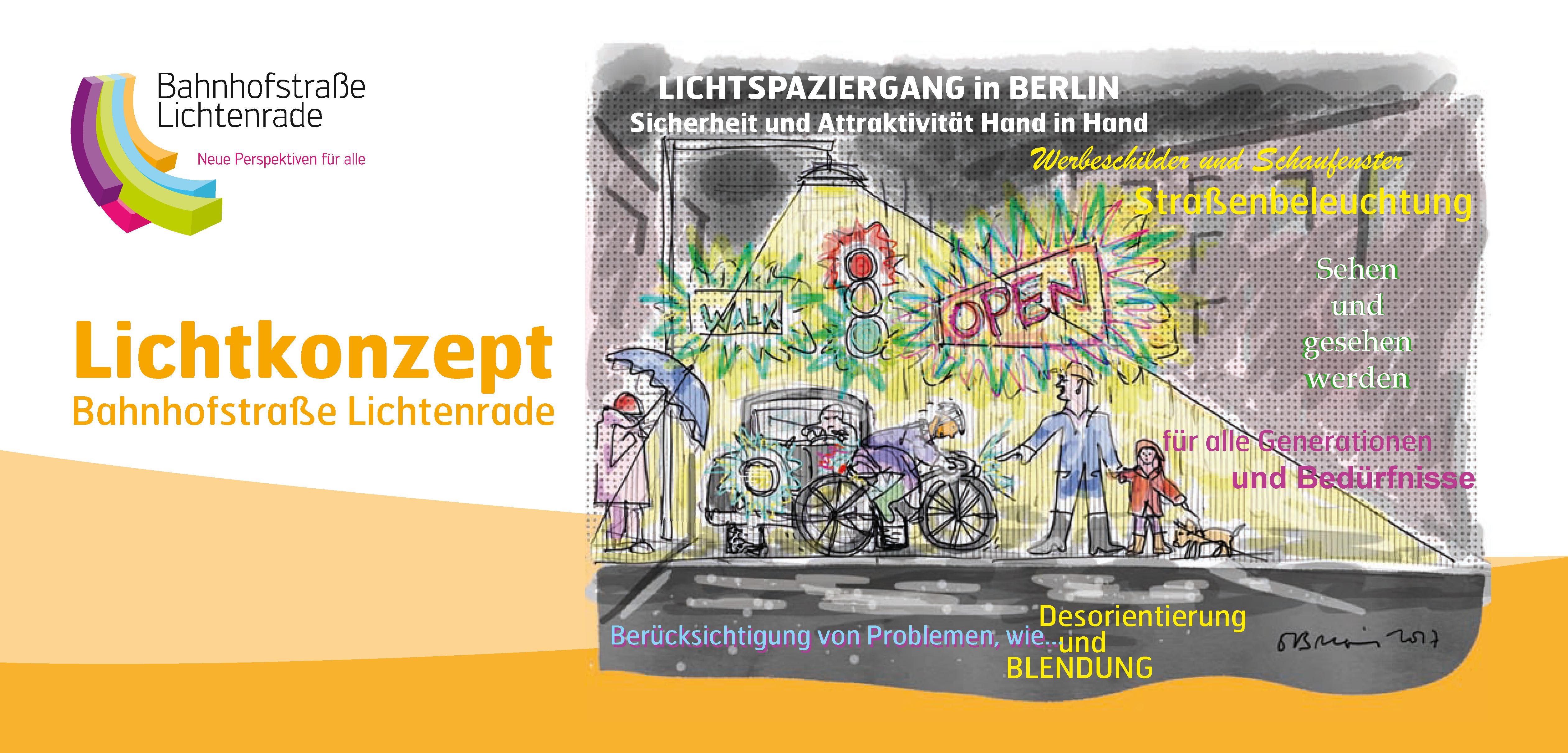 Der offizielle Flyer zum Lichtspaziergang entlang der Bahnhofstraße Berlin-Lichtenrade.