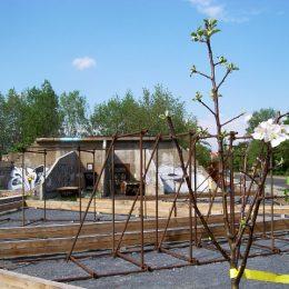 Das fast leere Grundstück des Plattenbaumuseums Betonzeitschiene.